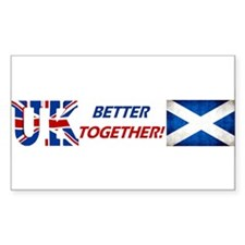 Better Together! Sticker (rectangle)