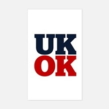 UK? OK!! Sticker (Rectangle)