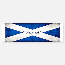 Aye, Scotland! Bumper Bumper Sticker