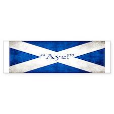 Aye, Scotland! Bumper Sticker