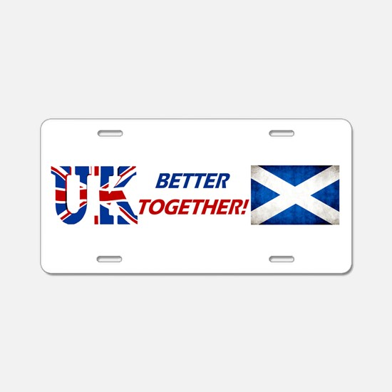Better Together! Aluminum License Plate