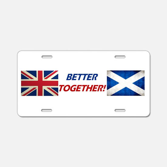 UK? OK!! Aluminum License Plate