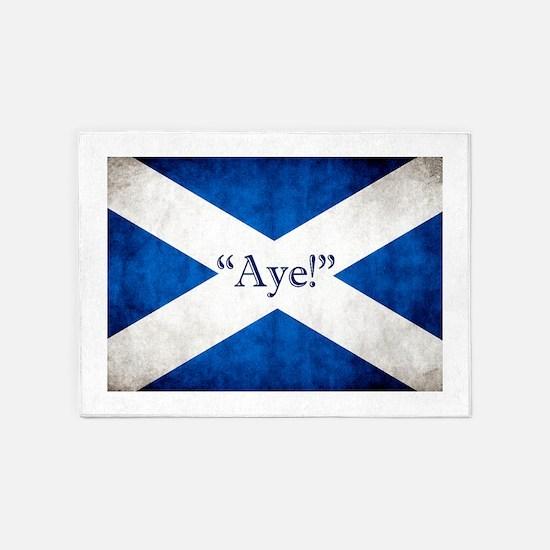 Aye, Scotland! 5'x7'Area Rug