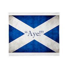 Aye, Scotland! Throw Blanket