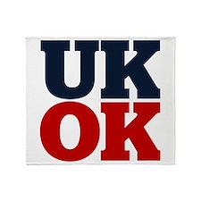 UK? OK!! Throw Blanket