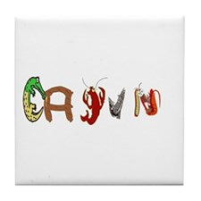 Cajun Characters Tile Coaster