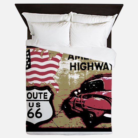 Route US 66 Queen Duvet