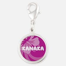 Kanaka Silver Round Charm