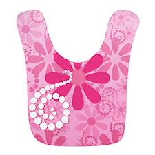 Girly Pink Retro Flowers Bib