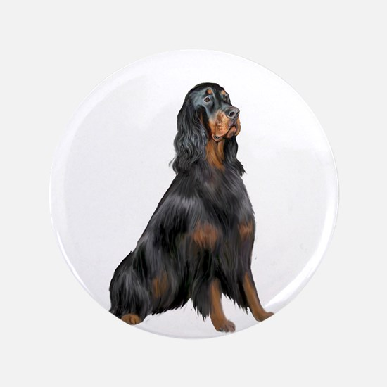 "Gordon Setter 3.5"" Button"