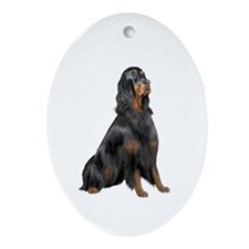 Gordon Setter Ornament (Oval)