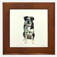 Catahoula Leopard Dog Framed Tile