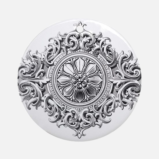 Vintage Rosette Ornament (Round)