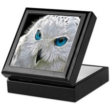 White Owl Keepsake Box