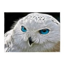 White Owl 5'x7'Area Rug