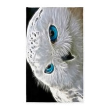 White Owl 3'x5' Area Rug
