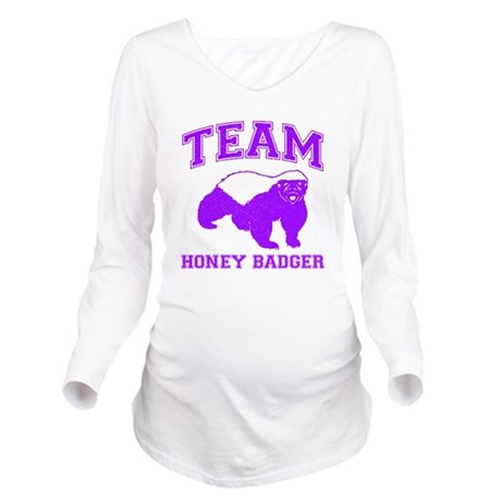 Team Honey Badger Long Sleeve Maternity T-Shirt
