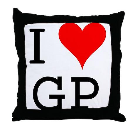 I Love GP Throw Pillow