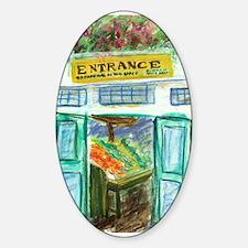 Pike Place Market Entrance Sticker (Oval)