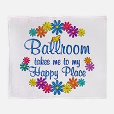 Ballroom Happy Place Throw Blanket