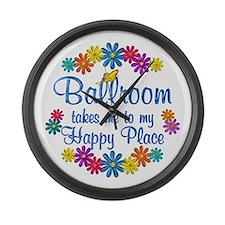Ballroom Happy Place Large Wall Clock