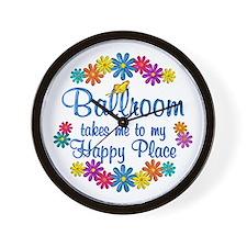 Ballroom Happy Place Wall Clock