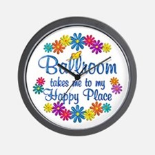 Ballroom Happy Place Wall Clock