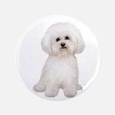 "Bichon Frise #2 3.5"" Button"
