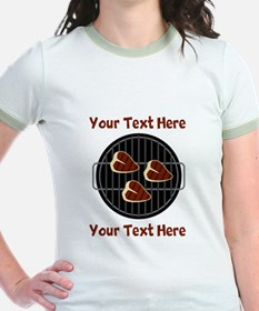 CUSTOM TEXT Meat On BBQ Grill T