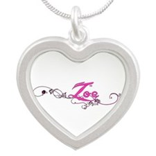 Zoe Flower Name Plate Necklaces