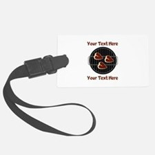 CUSTOM TEXT Meat On BBQ Grill Luggage Tag