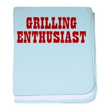 Grilling Enthusiast baby blanket