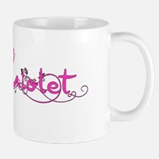 Violet Flower Name Plate Mugs
