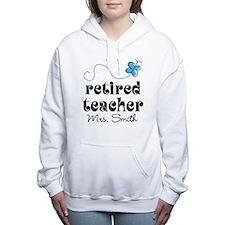 Retired Teacher personalized Women's Hooded Sweats