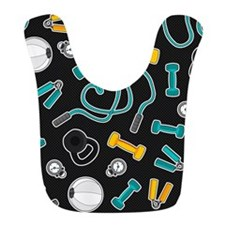 Fitness Love Pattern Aqua and Yellow Bib