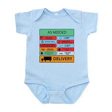 Auxilliary Label Collage Infant Bodysuit