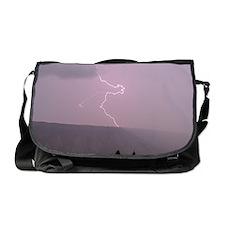 Lightning in Yellowstone Messenger Bag