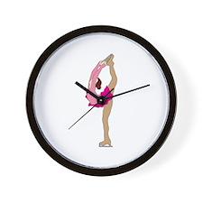 Ice Skater Wall Clock