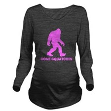 Gone Squatchin Long Sleeve Maternity T-Shirt