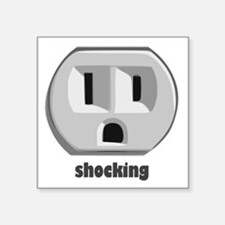 Shocking Surprised Wall Outlet Sticker