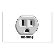 Shocking Surprised Wall Outlet Decal