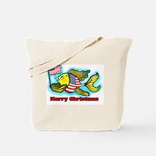 American fish Merry Christmas Tote Bag