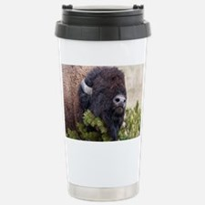 Christmas Bison Travel Mug
