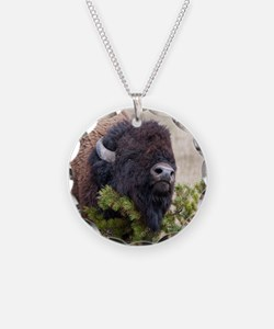 Christmas Bison Necklace