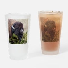 Christmas Bison Drinking Glass