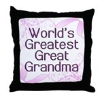 World's Greatest Great Grandma Throw Pillow