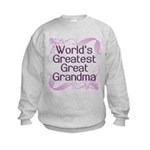 World's Greatest Great Grandma Kids Sweatshirt
