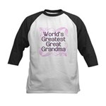 World's Greatest Great Grandma Kids Baseball Jerse