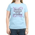 World's Greatest Great Grandma Women's Light T-Shi