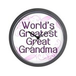 World's Greatest Great Grandma Wall Clock